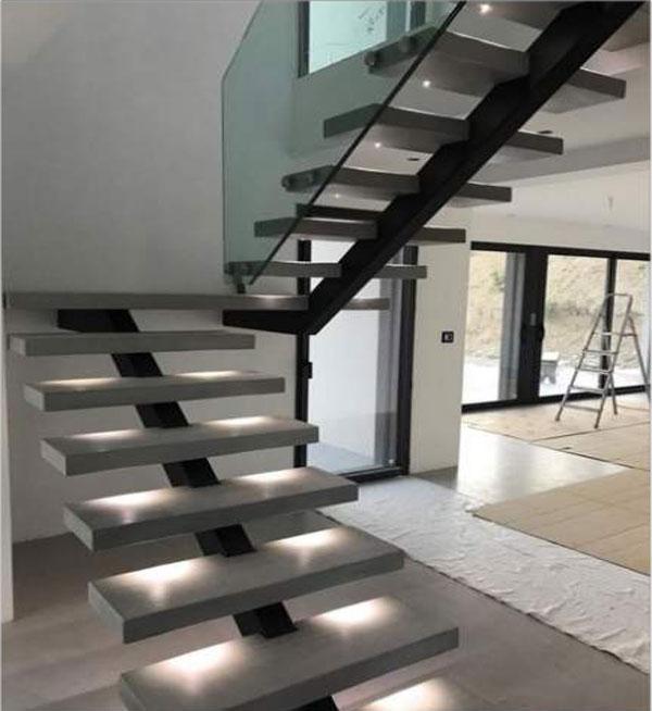 Escaliers d'intérieur métalliques modernes Tunisie