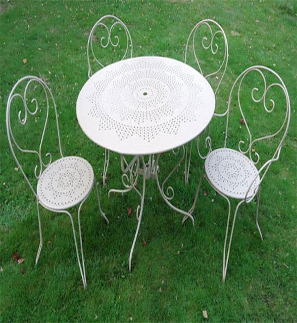 meubles et salons de jardin fer forge