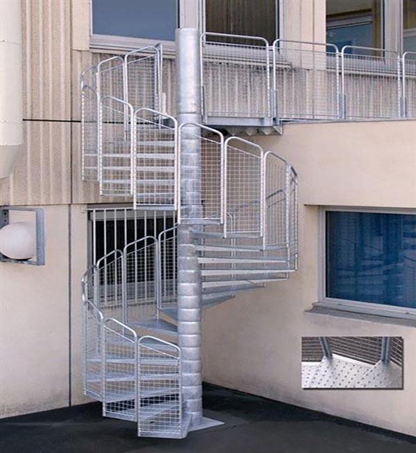 Escaliers d'exterieur métalliques ou aluminium Tunisie